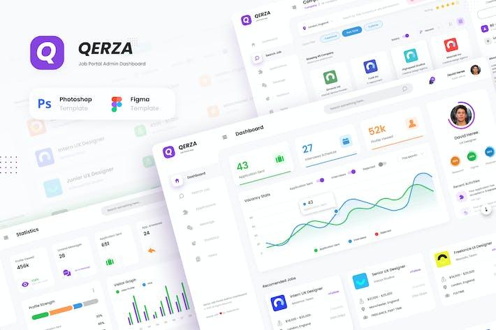 Thumbnail for Qerza Admin - Modèle d'interface utilisateur du tableau de bord du portail emplois