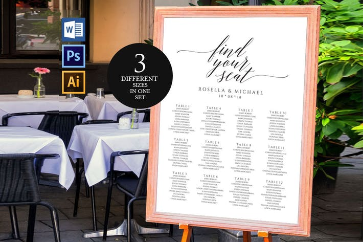 Wedding Seating Chart V18 By Shafura On Envato Elements