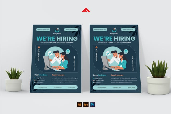 Thumbnail for Trainer Teacher Job Hiring Flyer Advertisement