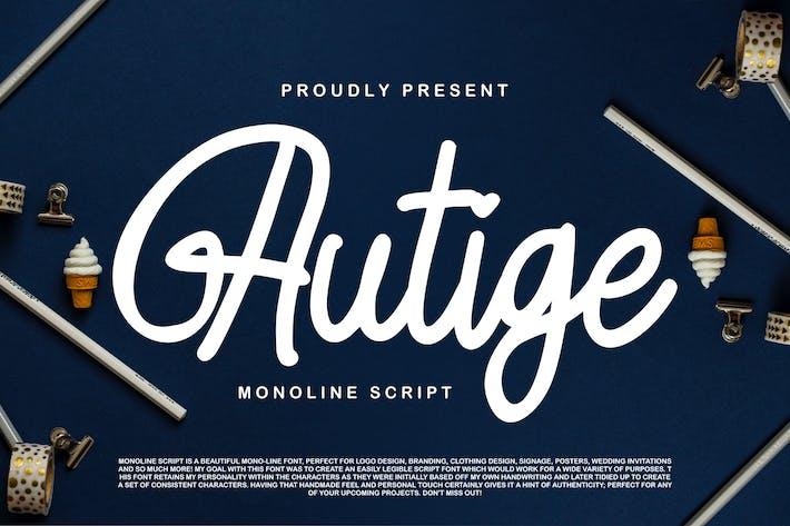 Thumbnail for Autige Monoline Script Cover case Negro
