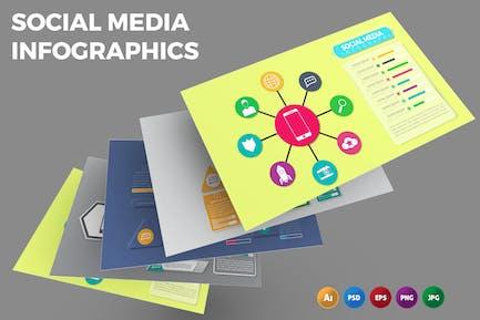Soziale Medien — Infografik-Design