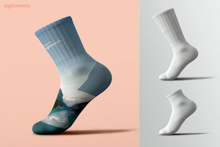 Cover Image For Socks Mock-Up Template