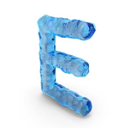 Ice Alphabet Letter E