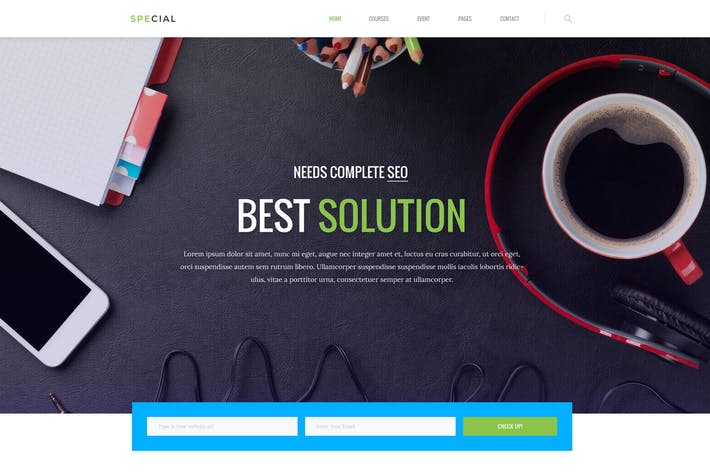 Thumbnail for Digital Agency For SEO / Marketing PSD Template