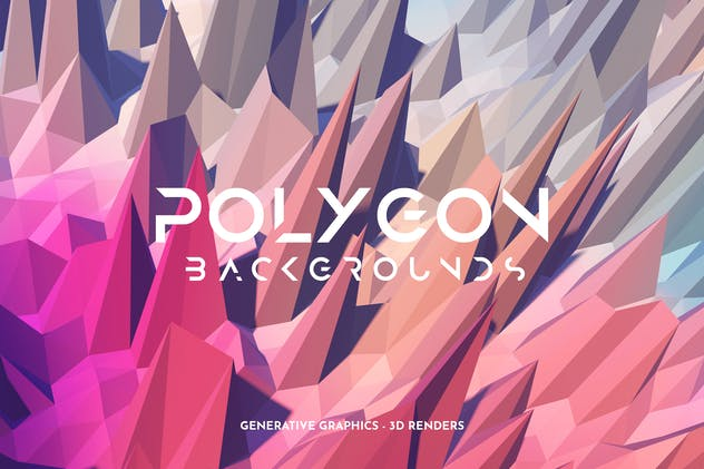 Sharp Polygon 3D Background Set