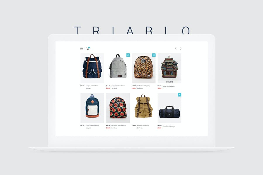 Triablo - eCommerce Landing Page