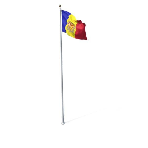 Fahne auf Pole Andorra