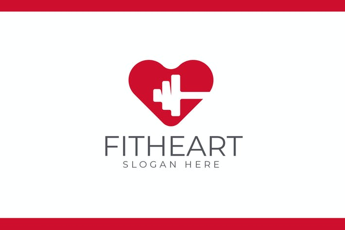 Thumbnail for Fit Heart - Health and Medical Care Logo