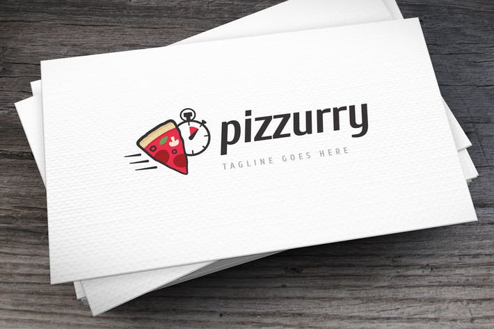 Thumbnail for Hurry Pizza Logo Template