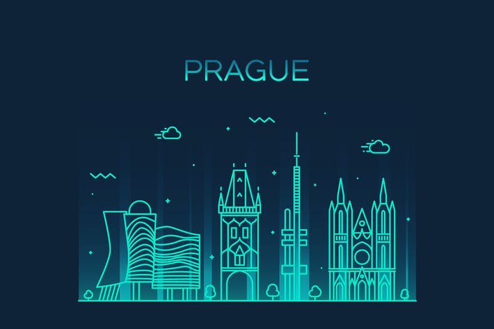 Thumbnail for Prague skyline, Czech Republic