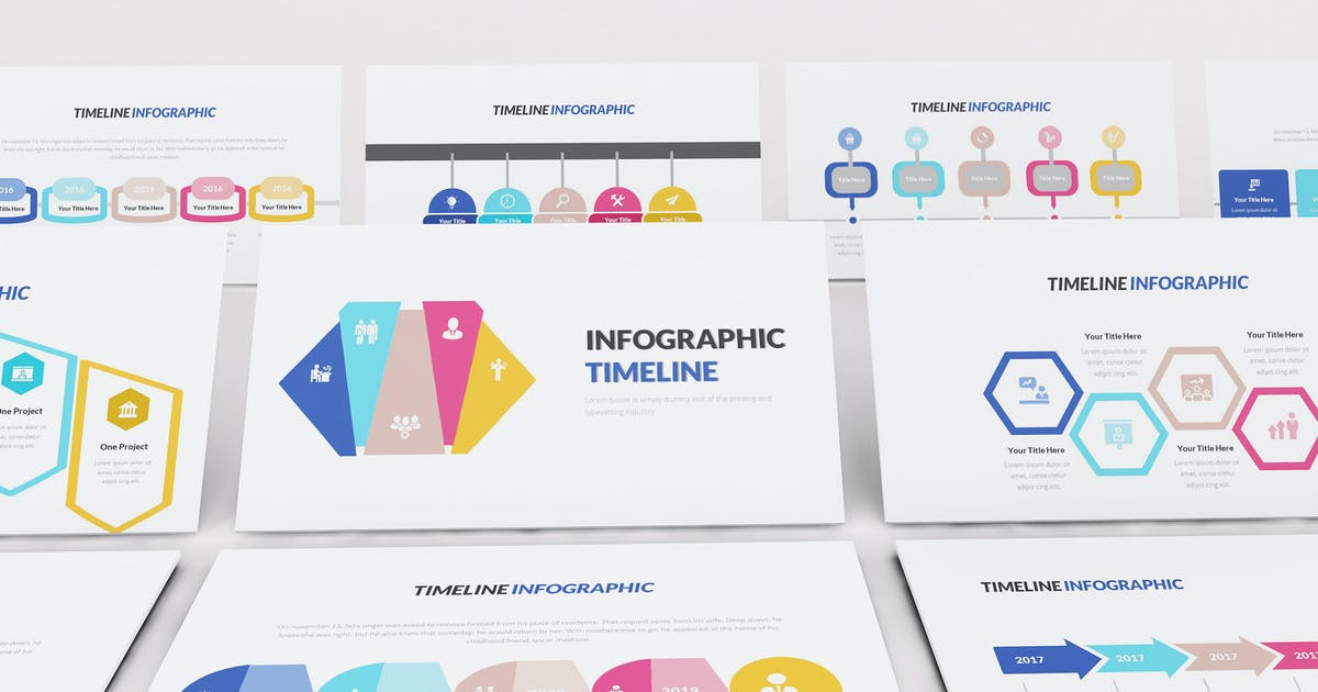 Download Infographic Timeline Keynote Template by Formatika