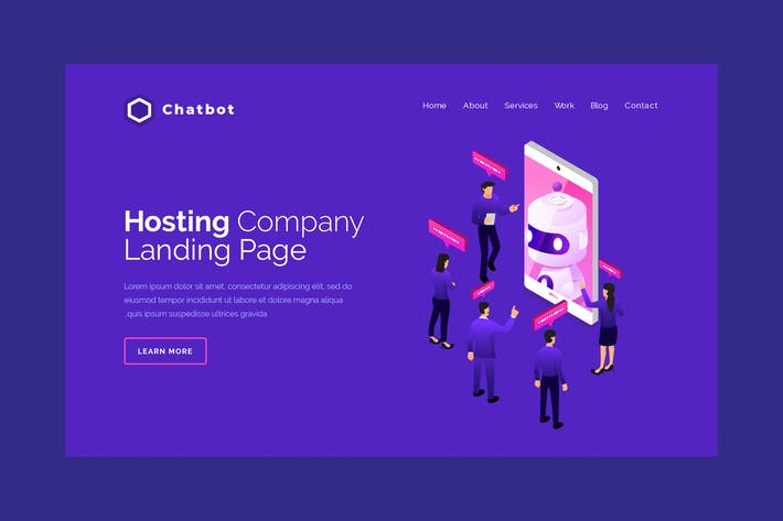Cover Image For Chatbot - Hero Banner Template