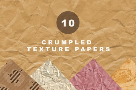 Crumpled texture papers