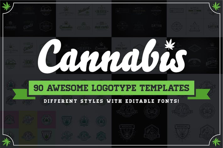 Cover Image For Cannabis Logotype Templates
