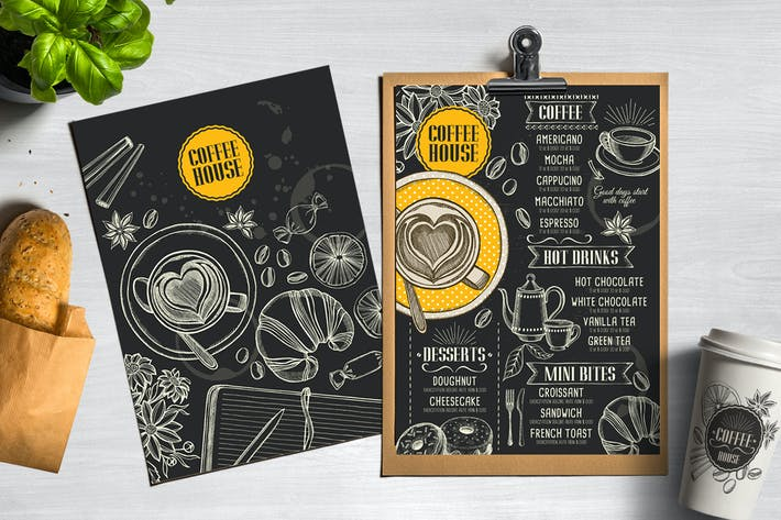 Thumbnail for Coffee Bar Menu Template