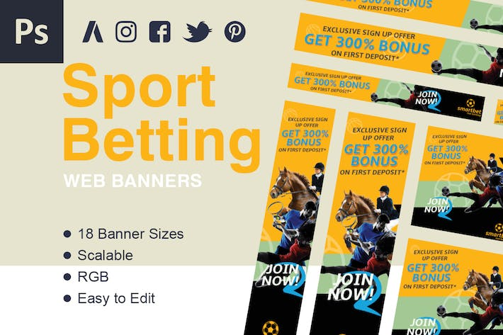 Thumbnail for Betting Web Banner Ads