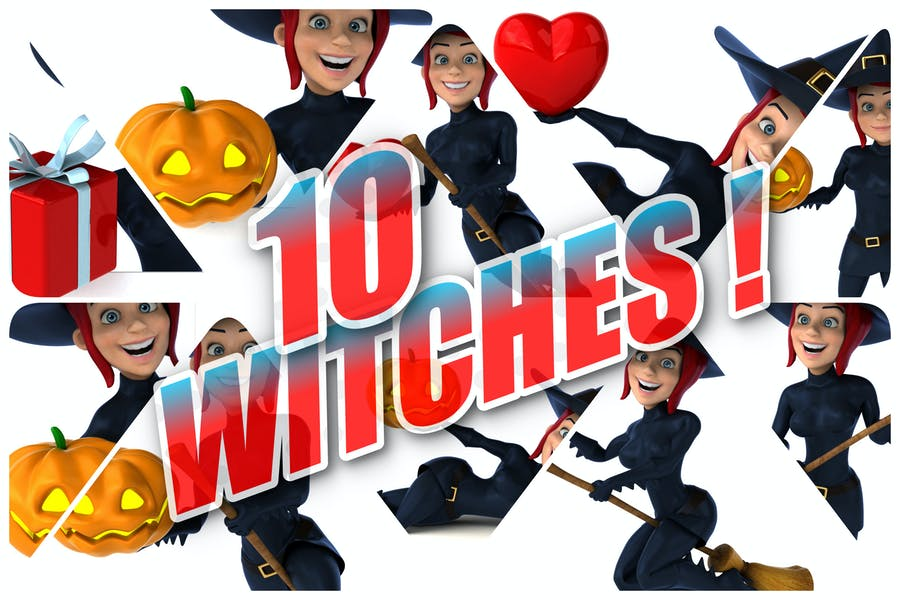 10 lustige Hexen!