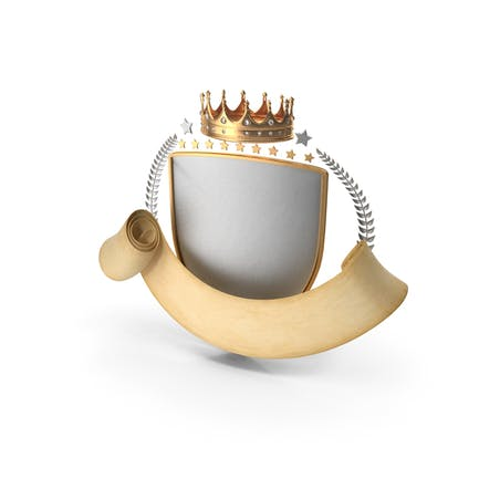 Epic Scroll Title Crown Shield