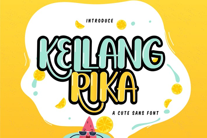Thumbnail for Kellang Rika | Cute Sans Font
