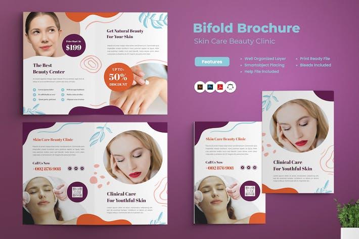 Broschüre zur Hautpflege Beauty-Klinik Bifold