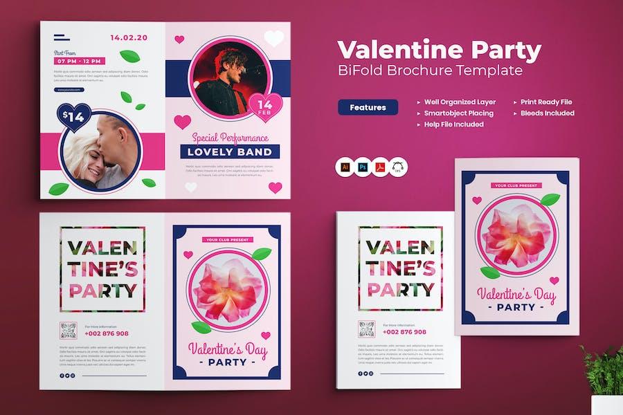 Valentine Party Bifold Brochure