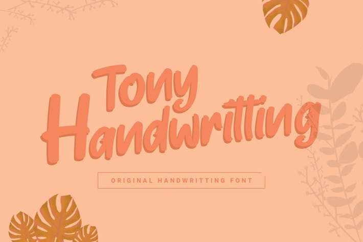 Thumbnail for Tony Handwritting - Fuente