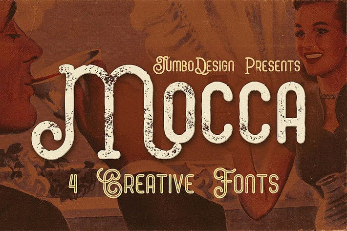 Thumbnail for Mocca - Vintage Style Font