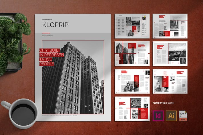 Thumbnail for Kloprip   Magazine Template