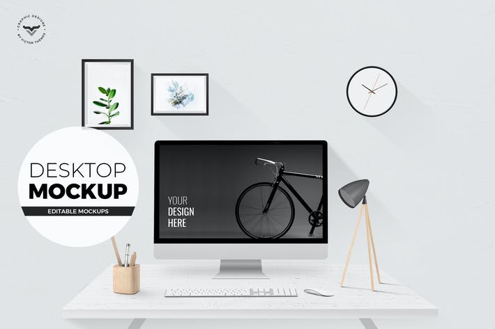 Thumbnail for Desktop mockups with Table