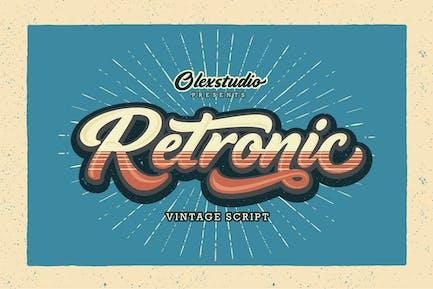 RETRONIC - Script vintage