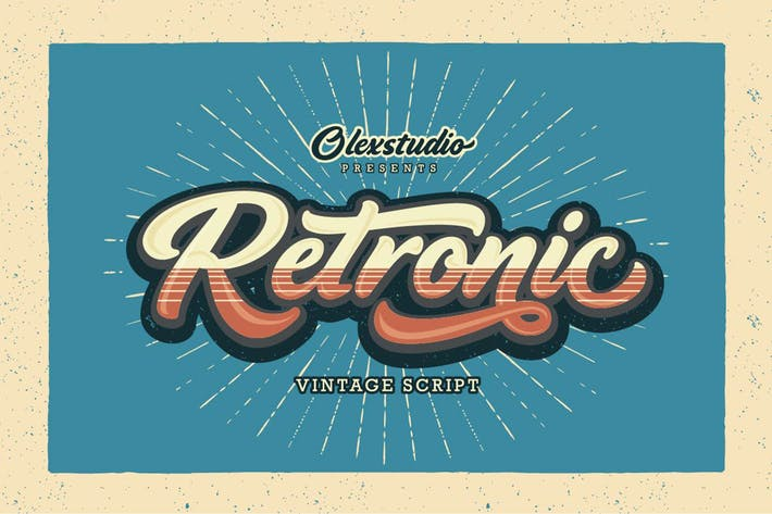 Thumbnail for RETRONIC - Script vintage