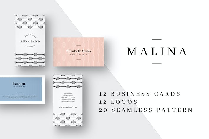 Thumbnail for MALINA Business Cards + Logos