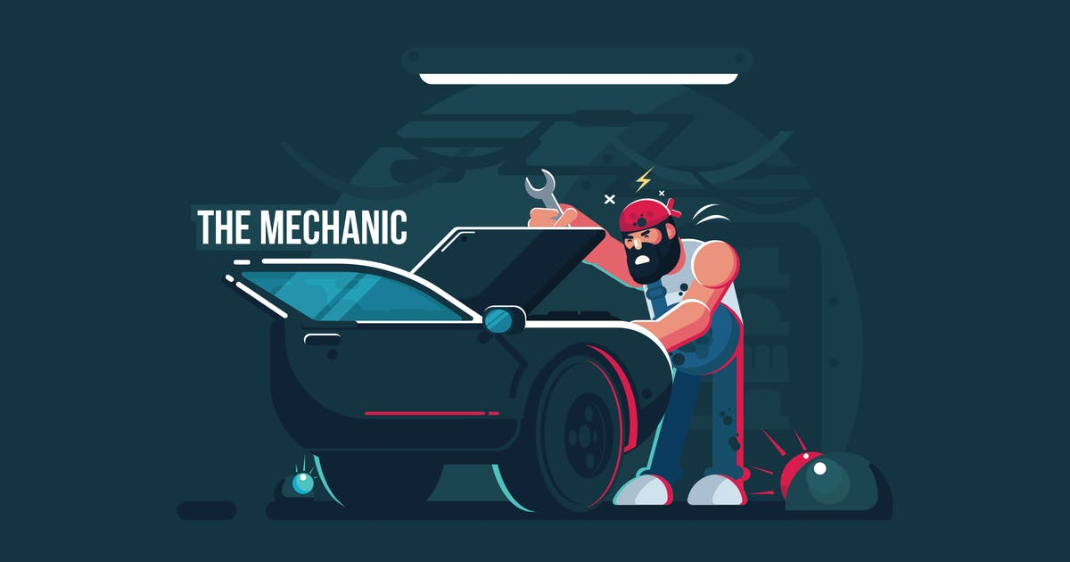 Download The Mechanic - Vector Activity by aqrstudio