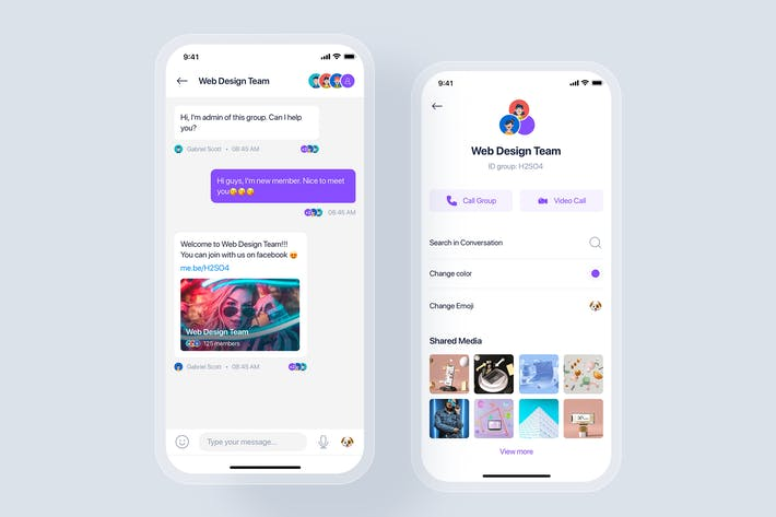 Thumbnail for Chat/Messages mobile app concept