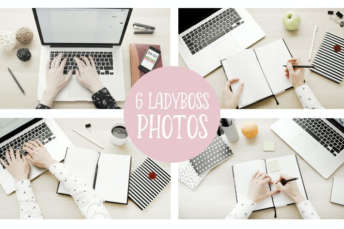 Thumbnail for Lady boss mockups and photos