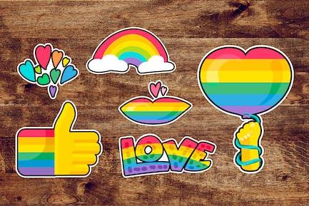 LGBTQI Pride Stickers Set