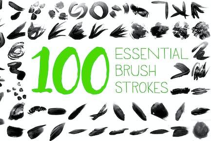 100 основных мазок кисти