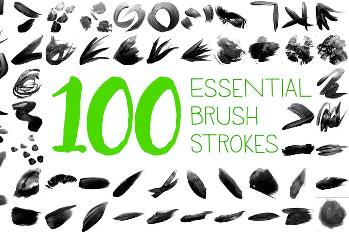 Thumbnail for 100 Essential Brush Strokes