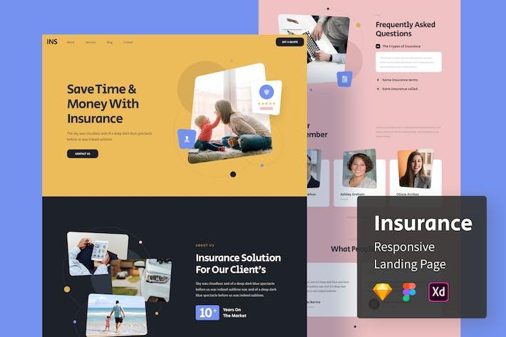 Page d'accueil Responsive Assurance