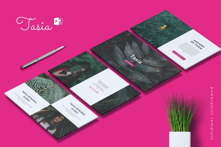 Thumbnail for TASIA - Company Profile Powerpoint Template