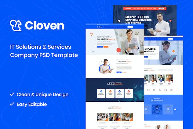 Cloven - IT Solutions And Services PSD Template