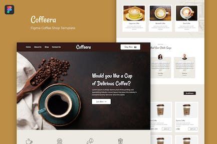 Coffeera — Figma Coffee Shop Template