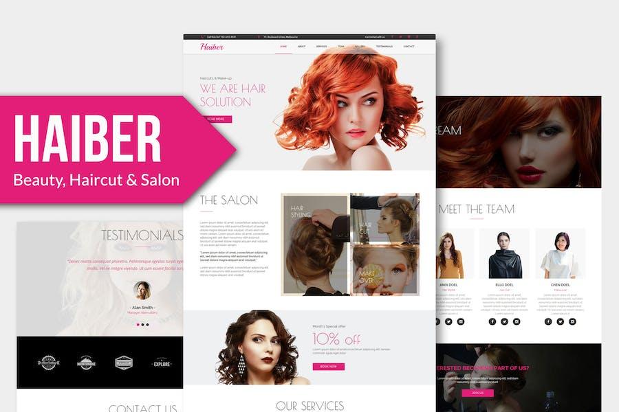 Haiber - Beauty & Make-up Muse Template