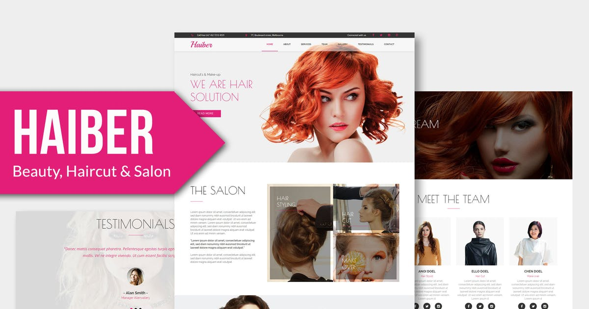 Download Haiber - Beauty & Make-up Muse Template YR by Rometheme