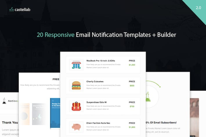 Thumbnail for NoticeLab - Email Notification Templates + Builder