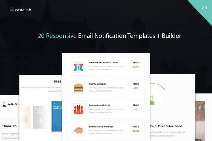 Download 18 web templates with sketch files included envato elements thumbnail for noticelab email notification templates builder fandeluxe Choice Image