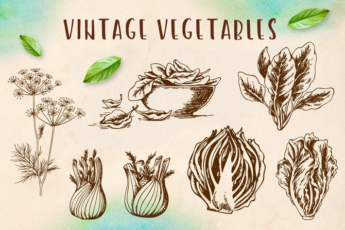 Thumbnail for Set of Vintage Vegetables