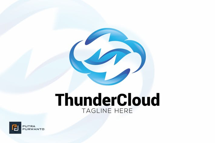 Cover Image For Thunder Cloud - Logo Template