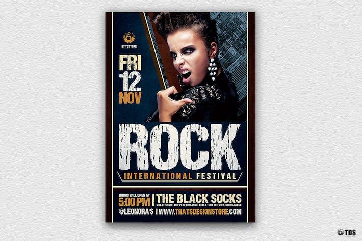 Thumbnail for Rock Festival Flyer Template V7