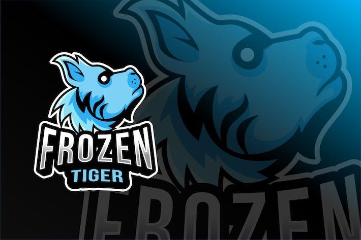 Thumbnail for Frozen Tiger Esport Logo Template